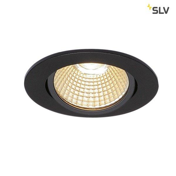 SLV Inbouw LED spot 12 Watt rond zwart kantelbaar dimbaar 230 Volt
