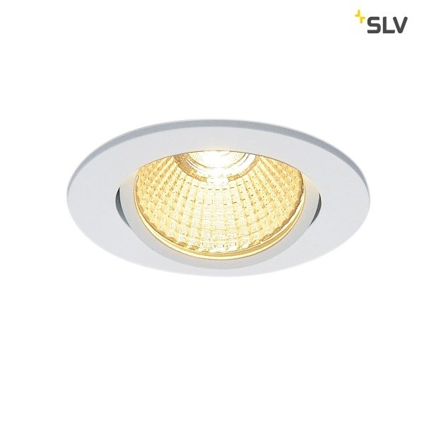 SLV Inbouw LED spot 12 Watt rond wit kantelbaar dimbaar 230 Volt