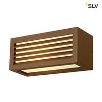 SLV Wandlamp IP44 voor badkamers en buiten roest bruin