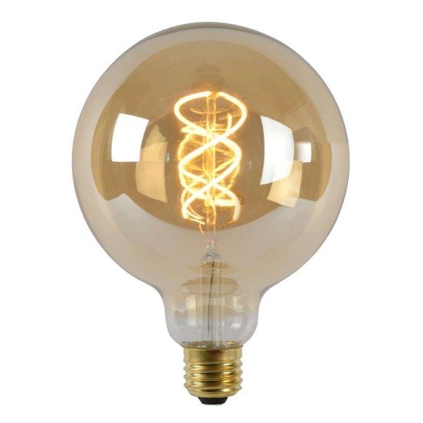 Lucide LED lamp Globe 125 E27 2200K Amber 5 Watt dimbaar
