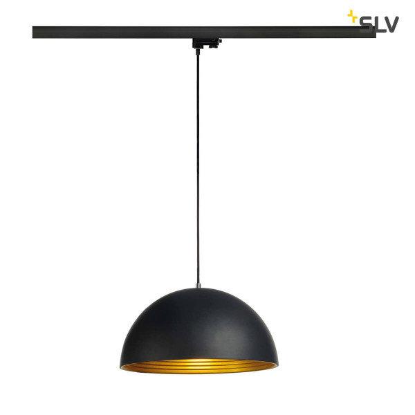 SLV 3-Fase-Rail hanglamp E27 binnenkant goud buitenkant zwart