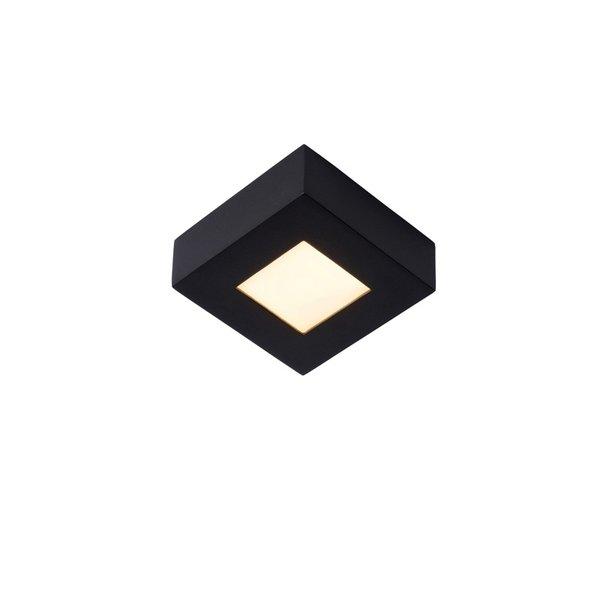 Lucide Badkamerlamp zwart 11cm vierkant LED dimbaar