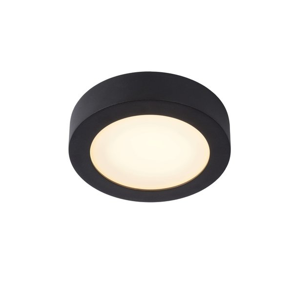 Lucide Badkamerlamp zwart 18cm rond LED dimbaar