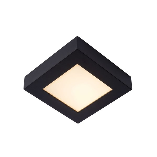 Lucide Badkamerlamp zwart 17cm vierkant LED dimbaar