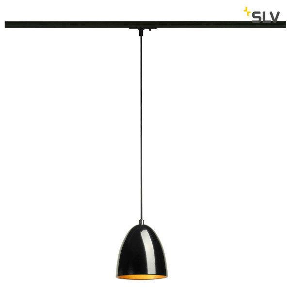 SLV 1-Fase-Rail hanglamp zwart goud