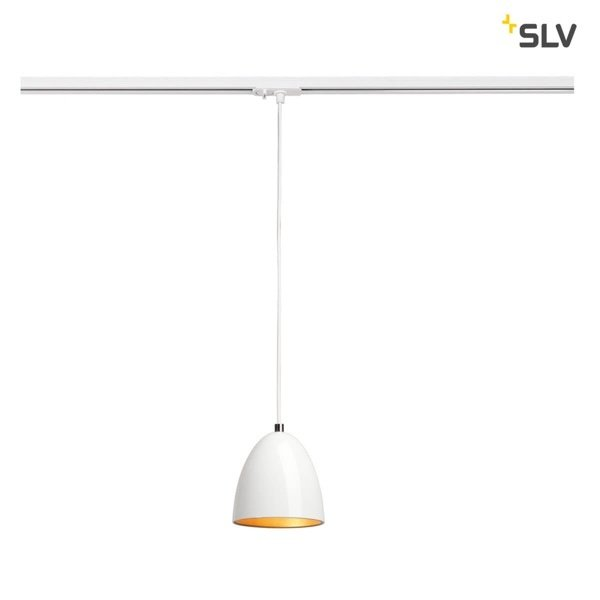 SLV 1-Fase-Rail hanglamp wit goud