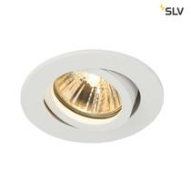 SLV Inbouw armatuur kantelbaar rond mat wit 68mm GU10