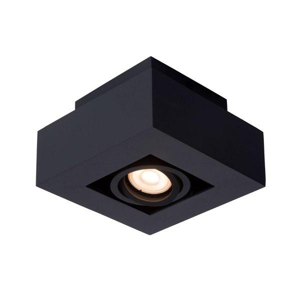 Lucide Moderne Dim to Warm LED spot enkelvoudig zwart kantelbaar