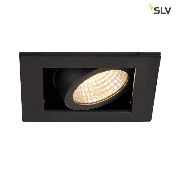 SLV Inbouw spot Kardan 230 Volt 1x LED spot zwart 3000K dimbaar