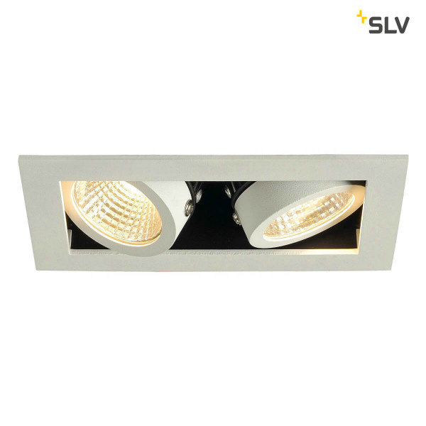 SLV Inbouw spot Kardan 230 Volt 2x LED spots wit 3000K dimbaar