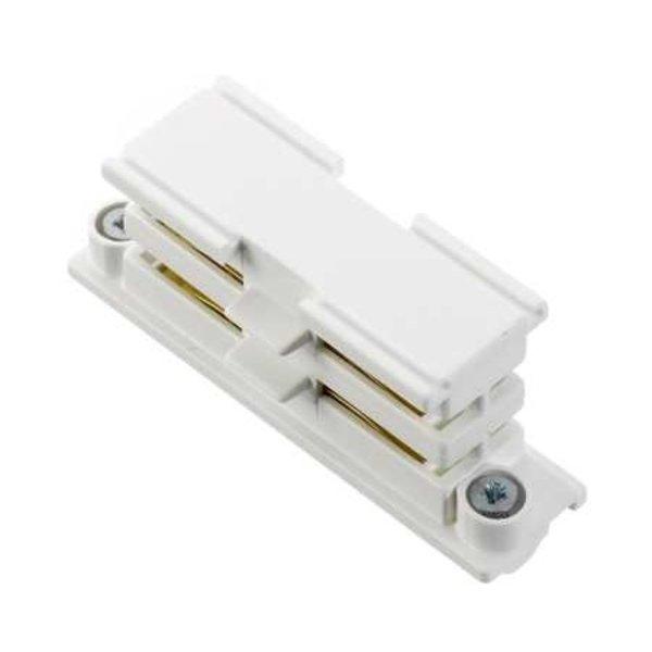 Global Trac Lighting Systems 3-Fase-Rail doorverbinder wit