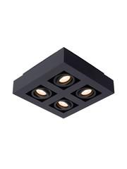 Lucide Moderne Dim to Warm LED zwart 4 spots