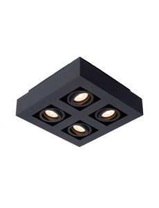 Lucide Moderne Dim to Warm LED zwart 4 spots
