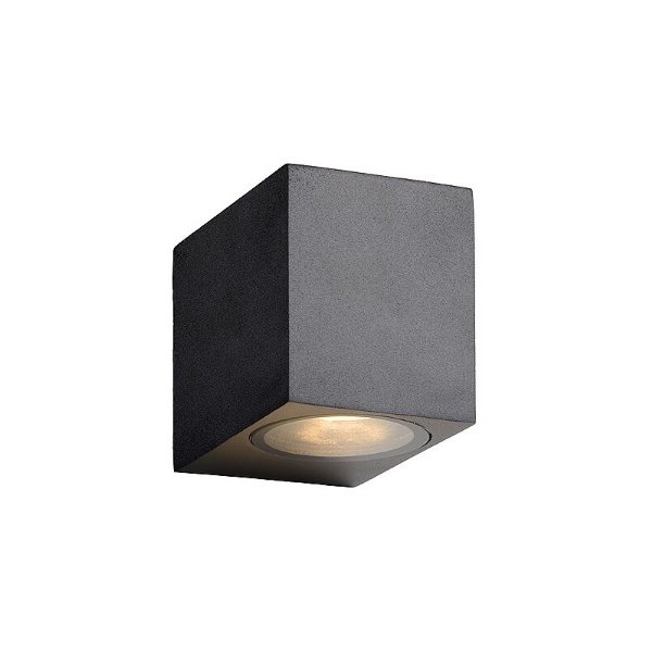 Lucide LED wandlamp IP44 zwart dimbaar
