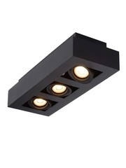 Lucide Moderne Dim to Warm LED zwart 3 spots