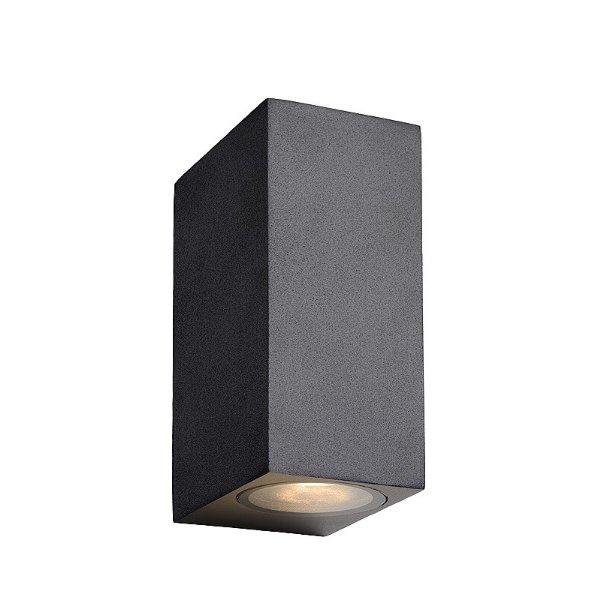 Lucide LED wandlamp IP44 zwart op en neer schijnend dimbaar