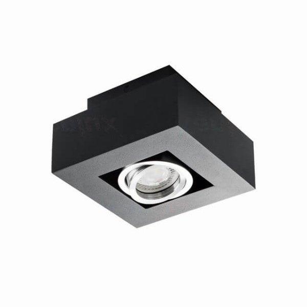 Kanlux Moderne plafondspot GU10 zwart kantelbaar