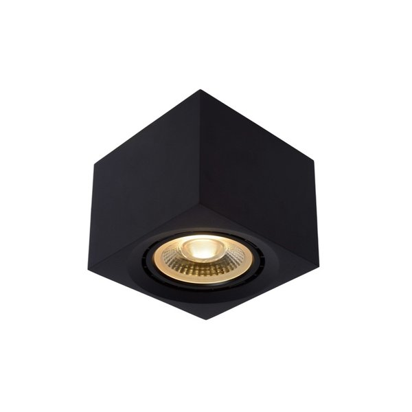 Lucide Grote Dim to Warm LED spot vierkant zwart dimbaar