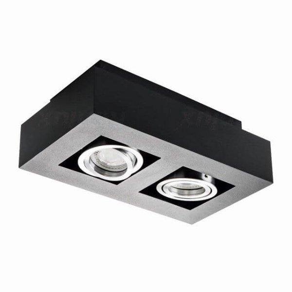 Kanlux Moderne plafondspot tweevoudig zwart