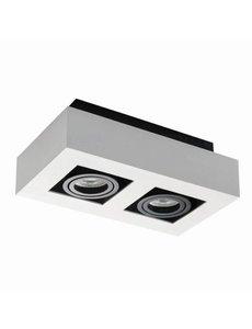 Kanlux Moderne plafondspot wit GU10 2 spots