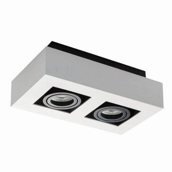 Kanlux Moderne plafondspot tweevoudig wit 26833