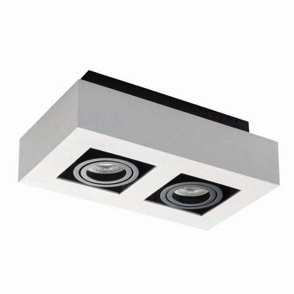 Kanlux Moderne plafondspot tweevoudig wit kantelbaar