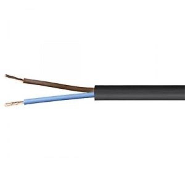 Luxar Kabel 2x 0,75mm2 rond zwart per meter