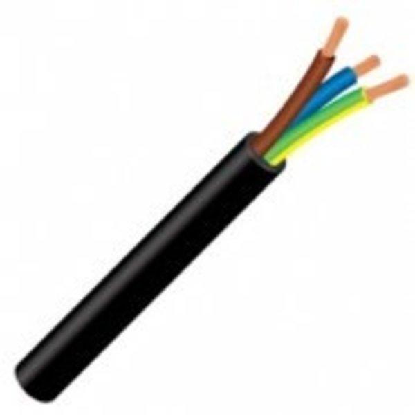 Luxar Kabel 3x 1,5mm2 rond zwart per meter