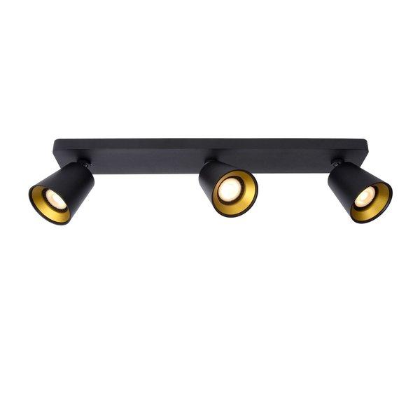 Lucide TURNON - Plafondspot - LED Dim to warm - GU10 - 3x5W 2200K/3000K - Zwart