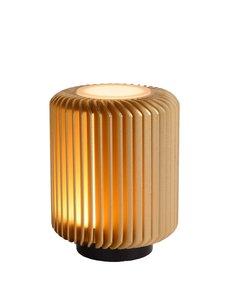 Lucide TURBIN Tafellamp  LED 1x5W 3000K Mat Goud / Messing