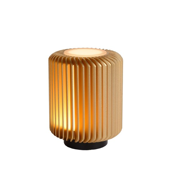 Lucide Tafellamp - Ø 10,6 cm - LED - 1x5W 3000K - Mat Goud / Messing
