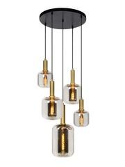 Lucide JOANET - Hanglamp - Ø 71 cm - 5xE27 - Fumé