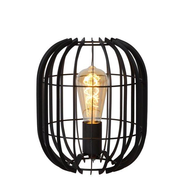 Lucide REDA - Tafellamp - Ø 22 cm - 1xE27 - Zwart