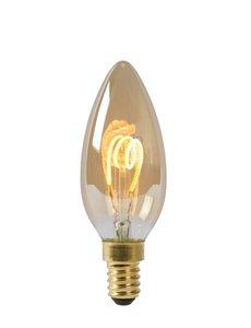 Lucide Filament lamp - Ø 3,5 cm - LED Dimb. - E14 - 3W 2200K - Amber