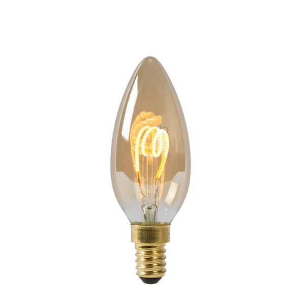 Lucide Lucide LED Bulb - Filament lamp - Ø 3,5 cm - LED Dimb. - E14 - 1x3W 2200K - Amber