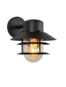 Lucide Wandlamp Buiten - Ø 21,8 cm - E27 - IP44 - Zwart