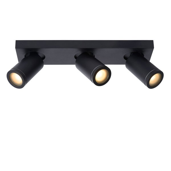 Lucide Lucide TAYLOR - Plafondspot Badkamer - LED Dim to warm - GU10 - 3x5W 2200K/3000K - IP44 - Zwart
