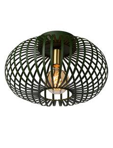 Lucide Plafondlamp E27 metalen kooi groen