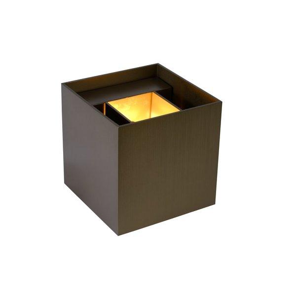 Lucide XIO Wandlicht Vierkant G9/3.5W 350LM 2700K Koffie