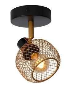 Lucide MAREN plafond / wandspot Goud Zwart