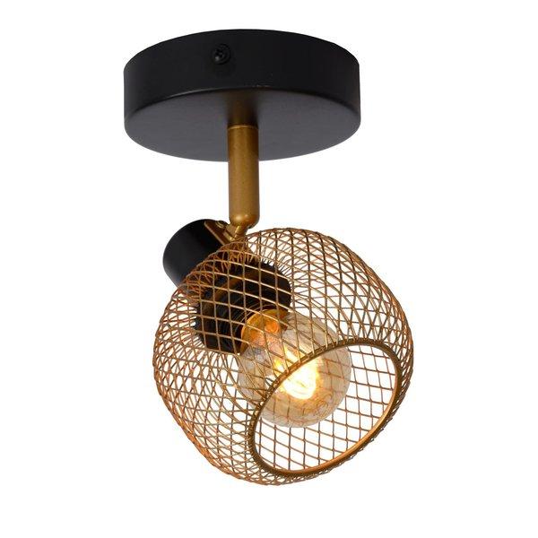 Lucide MAREN plafond / wandspot E14 Goud / Zwart