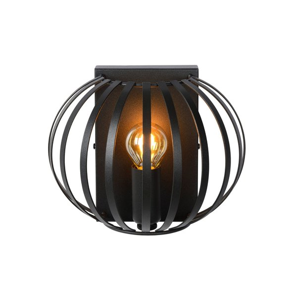 Lucide MANUELA Wandlamp E14/40W Zwart