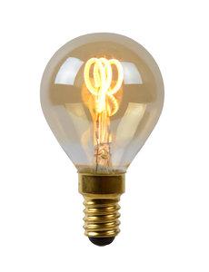 Lucide Filament lamp Ø 4,5 cm LED Dimb. E14 3W 2200K Amber
