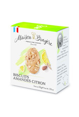 Maison Bruyere Biscuits craquants aux éclats d'amandes, aromatisés au citron 50g