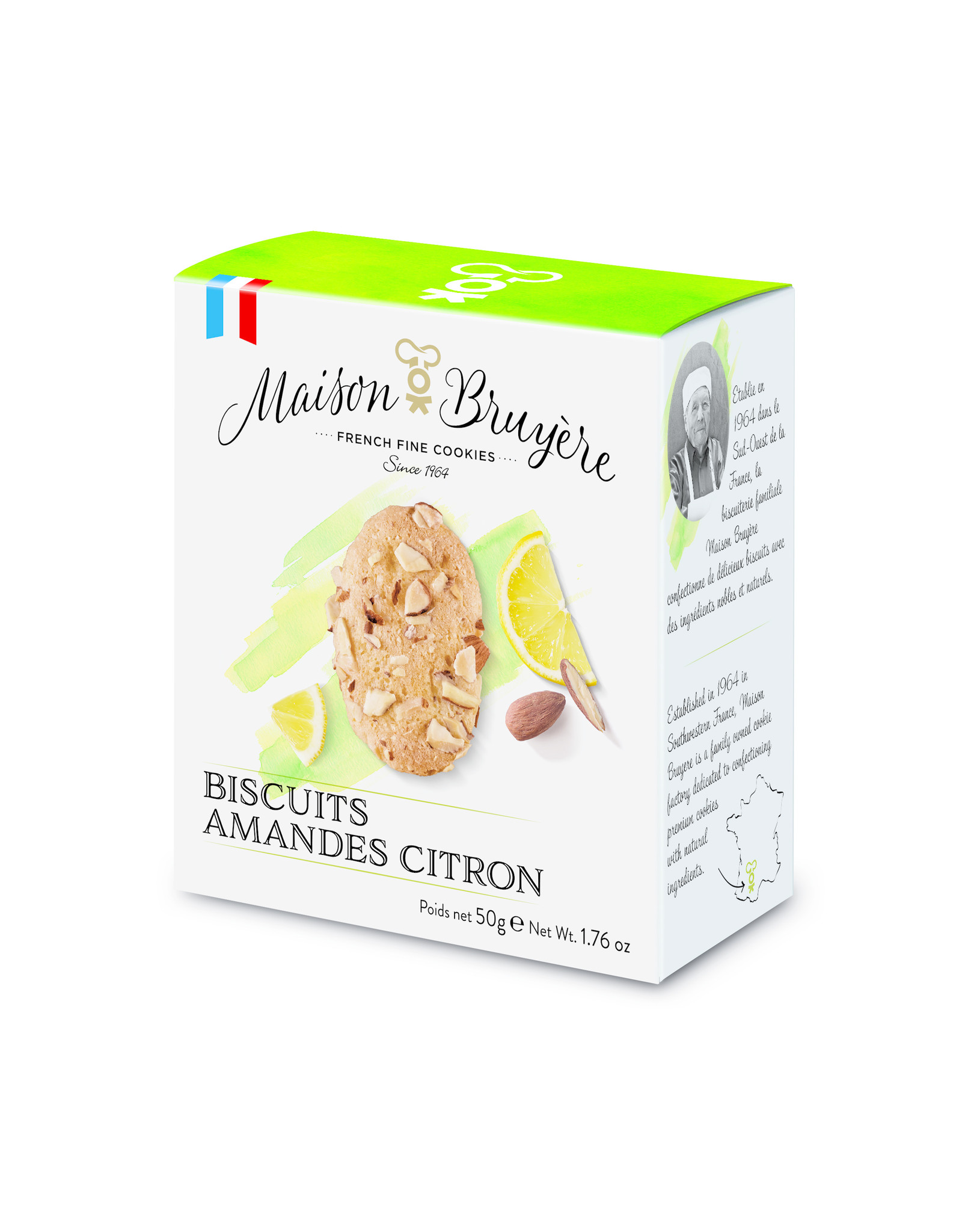 Maison Bruyere Almond lemon cookies 50g