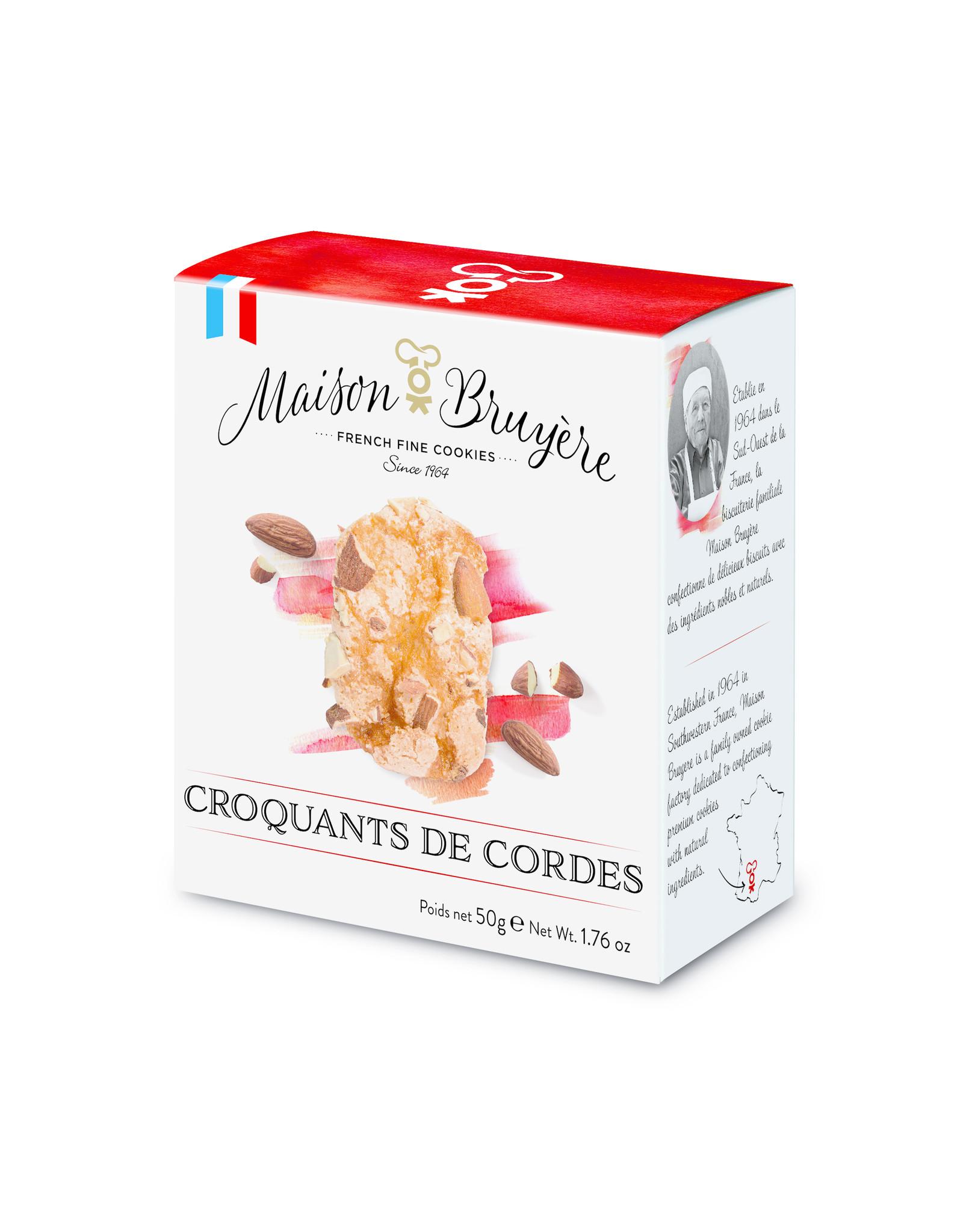 Maison Bruyere Biscuits soufflés et croustillants aux éclats d'amandes. 50g
