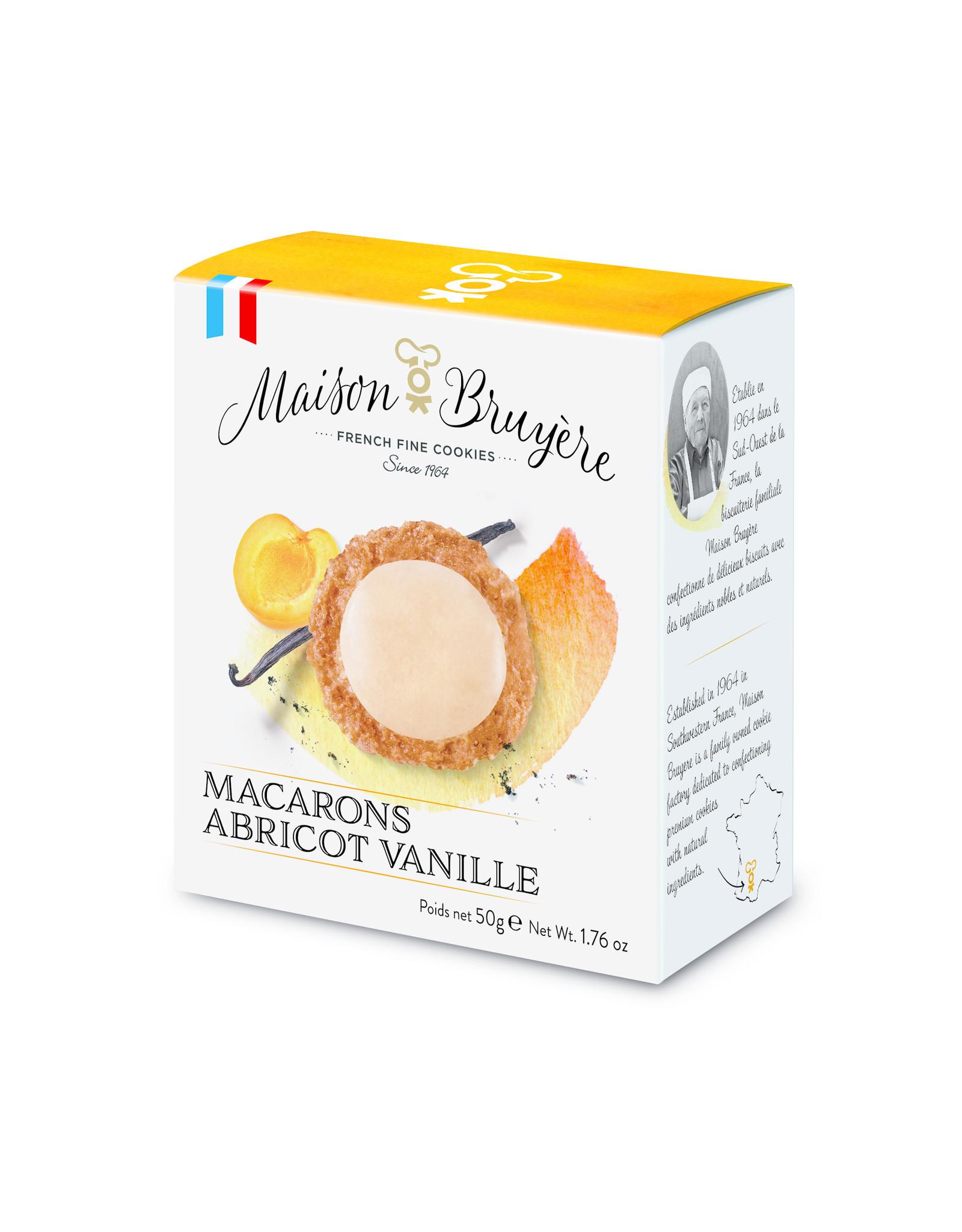 Maison Bruyere Apricot vanilla macaroons 50g