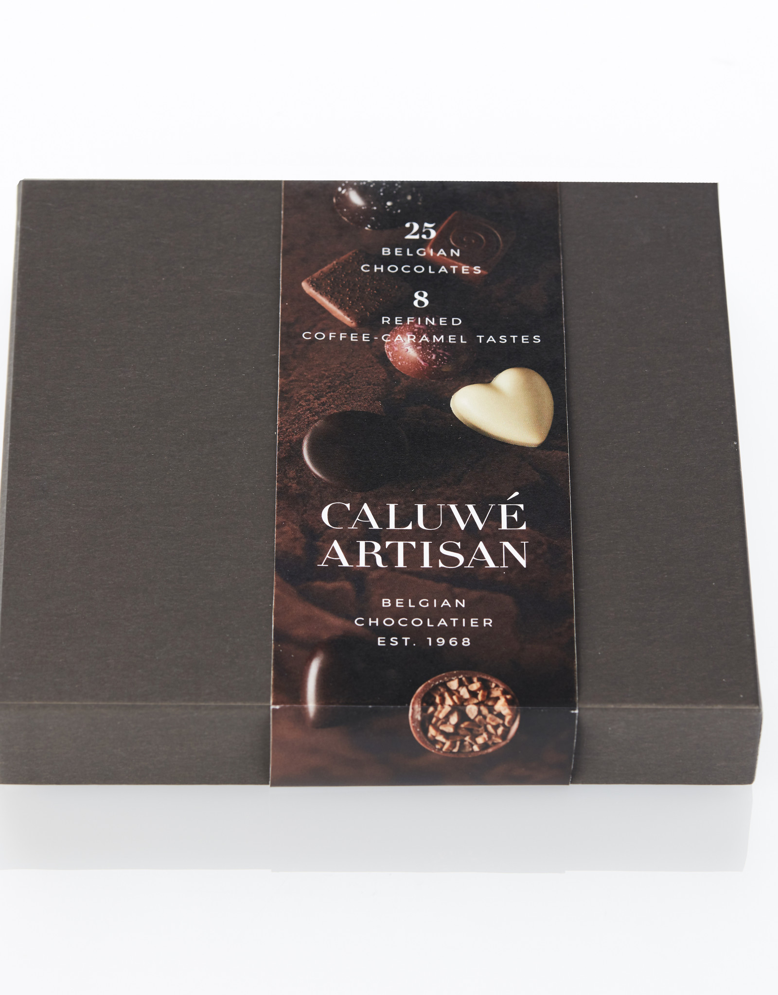Caluwe Artisan Rigid box 330g - coffee/caramel assortment - UTZ