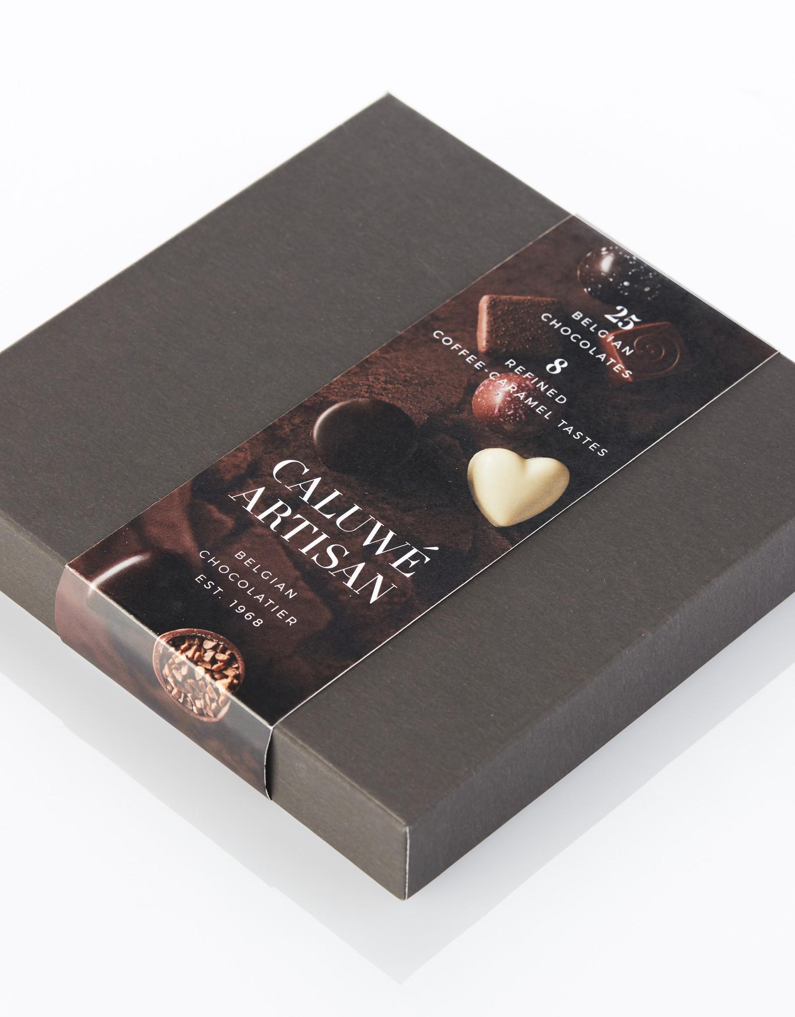 Caluwe Artisan Assortiment de chocolats Belges rempli - café caramel.