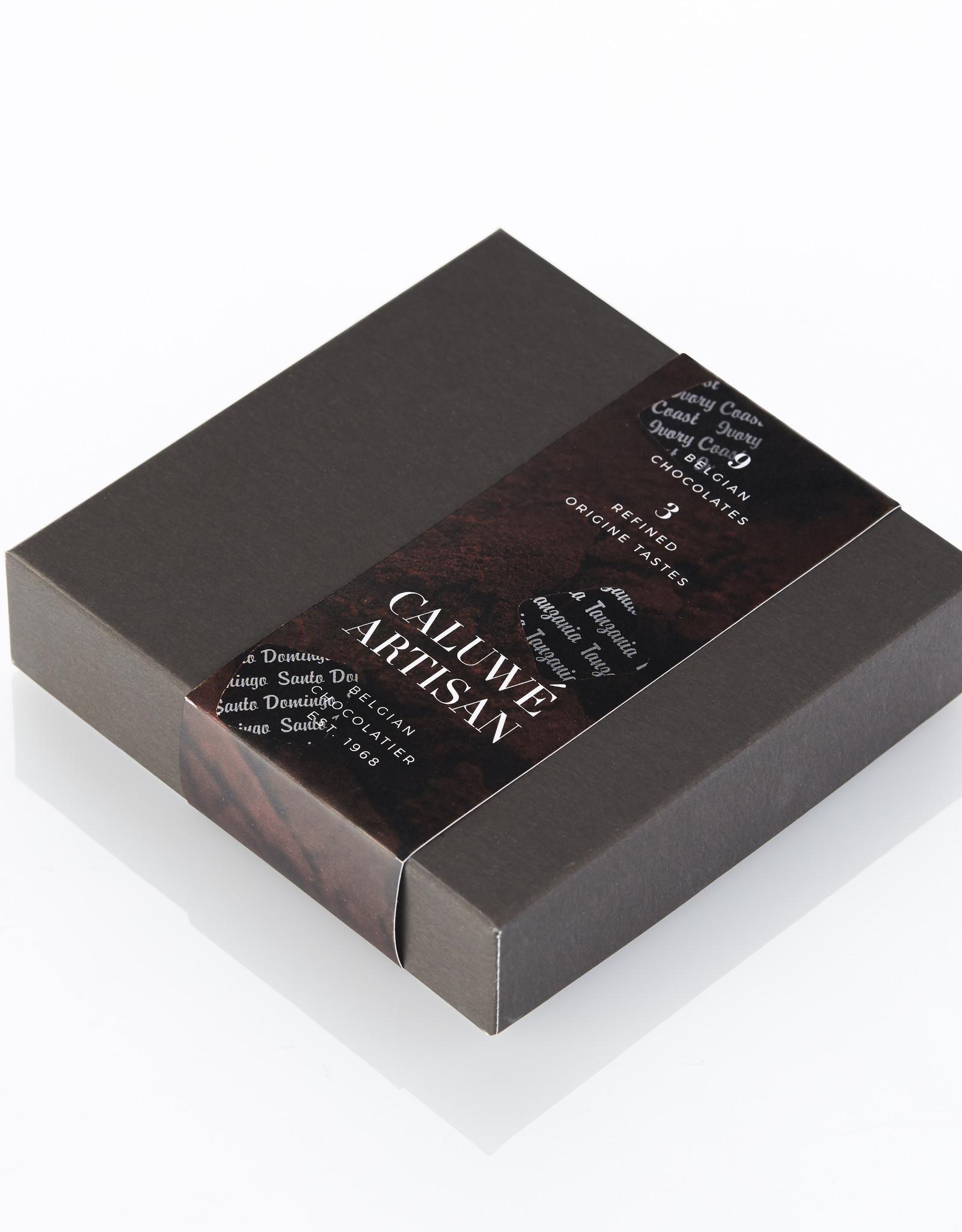 Caluwe Artisan Rigid box 95g - origin assortment - UTZ